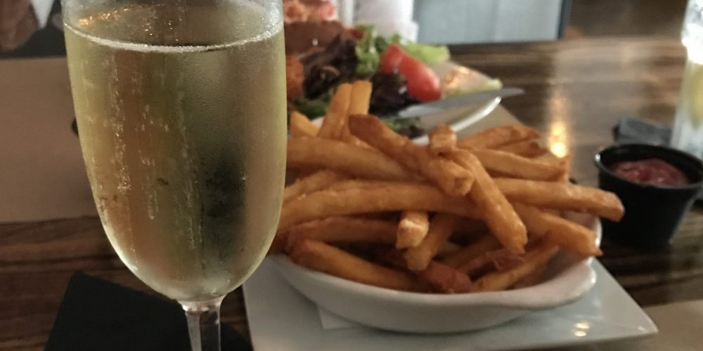 champagne and fries